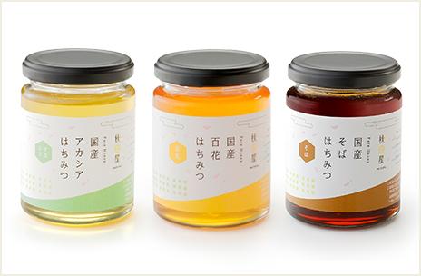 国産はちみつ ギフトセット(300g アカシア,百花,そば)