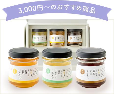 3,000円~のおすすめ商品 国産はちみつ ギフトセット